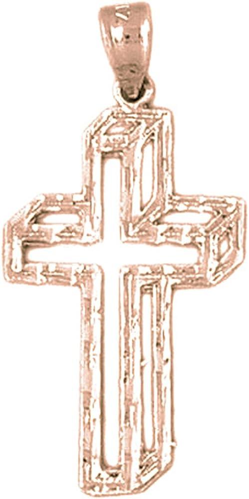 30 mm Jewels Obsession Cross Pendant Sterling Silver 925 Cross Pendant