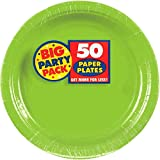 Amscan Kiwi Green Dessert Paper Plate Big Party Pack, 50 Ct.