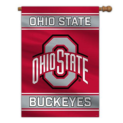 """NCAA Ohio State Buckeyes 2-Sided House Flag, 28"""" x 40"""", Team Color"""