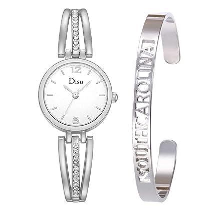 Longra Relojes de Pulsera liviano de Lujo para Mujer, Relojes con Esfera de Diamantes y