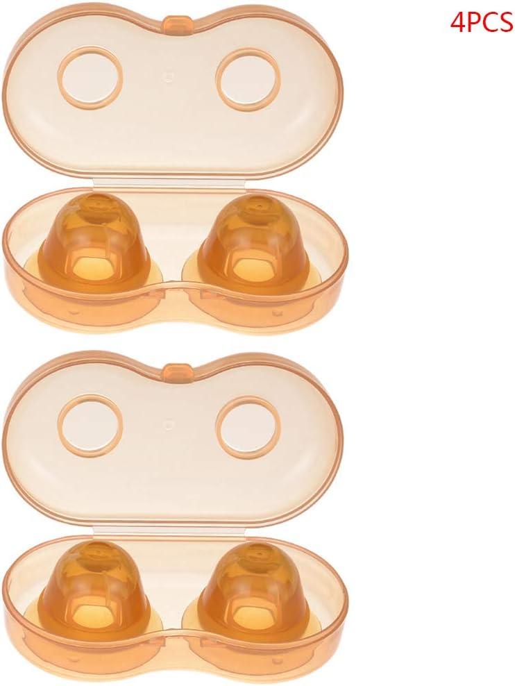 Nano-Silber Silikon Nippelkorrektur Invagination Flachsauger f/ür m/ütterliche Stillzeit Youliy Nippelkorrektur Sauger versenkt