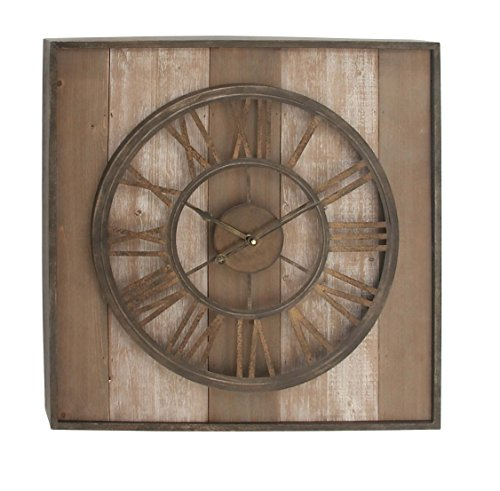 Deco 79 47972 Wood and Metal Wall Clock, 26