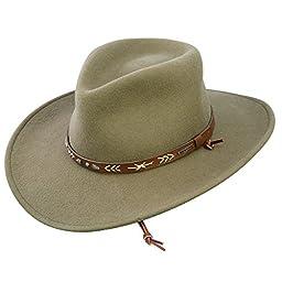 Stetson Men\'s Santa Fe Crushable Wool Hat - Medium - Mushroom