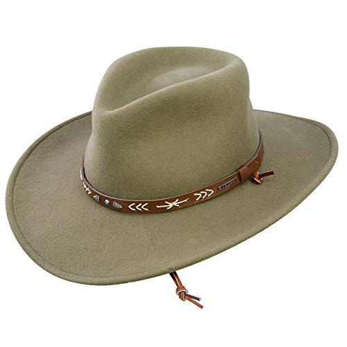 Stetson Men's Santa Fe Crushable Wool Hat - Small - - Santa Fe Outlet Fashion