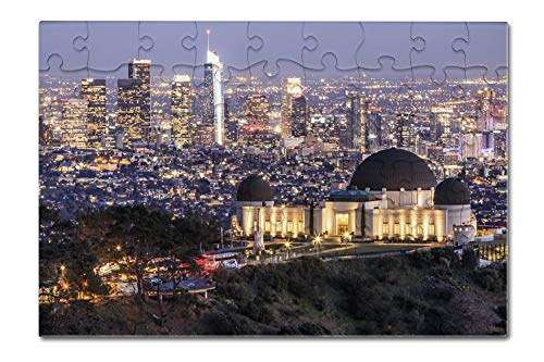 Los Angeles, California - Griffith Observatory Park - Photography A-92159 (8x12 Premium Acrylic Puzzle, 63 Pieces)