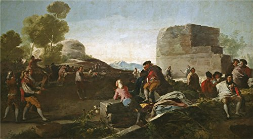 80s Wild Child Costume Reviews ('Goya Y Lucientes Francisco De A Stickball Game 1779 ' Oil Painting, 24 X 43 Inch / 61 X 110 Cm ,printed On High Quality Polyster Canvas ,this Imitations Art DecorativeCanvas Prints Is Perfectly Suitalbe For Hallway Gallery Art And Home Decor And Gifts)