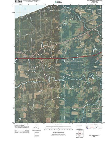 USGS Historical Topographic Map | 2010 East Springfield, PA |Fine Art Cartography Reproduction - Map Of Pa Springfield