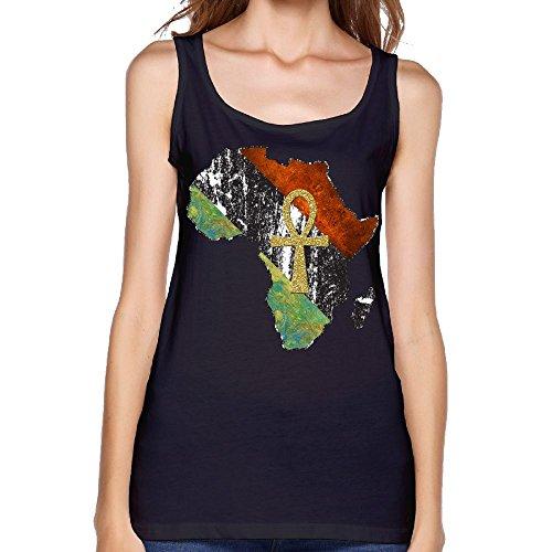 Dqqqo Retro Ankh African Africa Girls Scoop-Neck Tank Top Gym Tanks Sports Sleeveless Tops Shirt L by Dqqqo