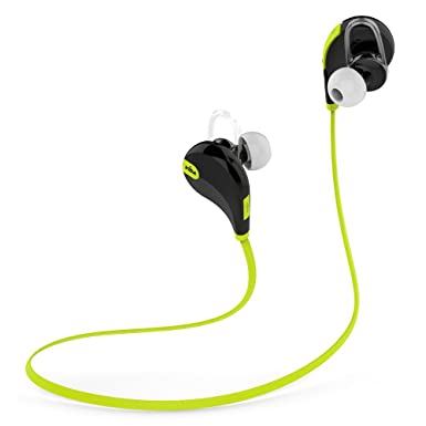NUEVO V7 Sports Bluetooth Auricular Headset 4.0 con aptX® para Vodafone 945 553 360 H2 840 Teléfono Móvil Smartphone Tablet PC con HD Voice Negro/Verde: ...