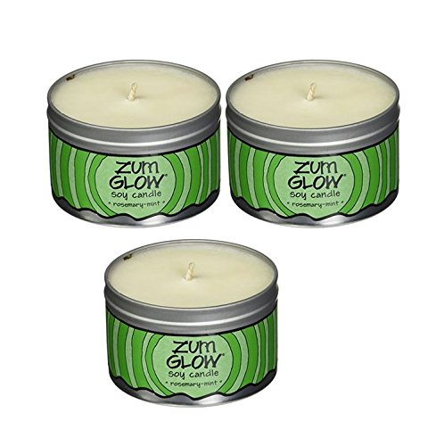 Indigo Wild Rosemary-Mint Zum Glow Soy Aromatherapy Candles, 7oz. - 3 Pack