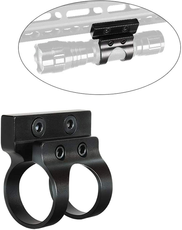 """1/"""" Offset Scope Ring with Rail Mount /& KeyMod Rail Section for Laser //Flashlight"""
