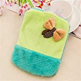FelixStore Lovely Bow Cartoon Plush Water - Filled Hot Water Bottle Mini Portable Warm Water Bag ping