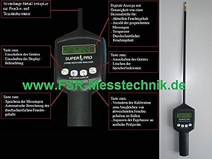 Feuchtemessgerät kombi temperatur feuchte feuchtemesser digital heu