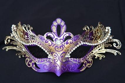 c62fbc92177 Luxury Elegant Sexy Fashion Masquerade Venetian Carnival Prom Mardi Gras  Wedding Costume Spanish Quinceanera Theme Party