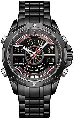 NAVIFORCE 9170 Mens Watch   Luxury Fashion Sport Military   Digital Dual Time Display   Casual Japanese Quartz Watches