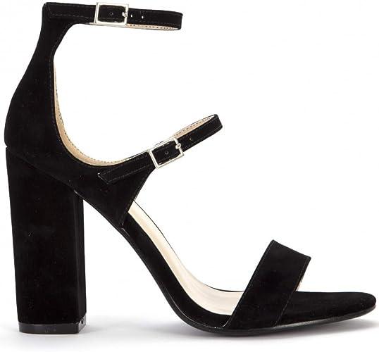 Shoe Closet Black Strappy Heels Ladies