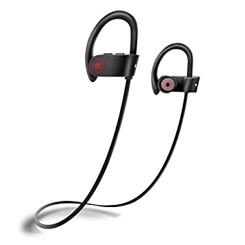 Bluetooth Headphones, in Ear Wireless Earphones IPX7 Sweatproof Noise Cancelling Stereo Sport Headsets for Gym