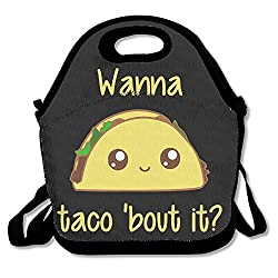 HOT TOPICS Wanna Taco Bout It Lunch Bags Lunch Box Tote Bag With Strap