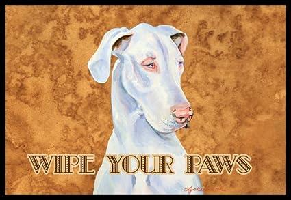 Multicolor 24 x 36 Carolines Treasures White Great Dane Wipe Your Paws Indoor or Outdoor Mat