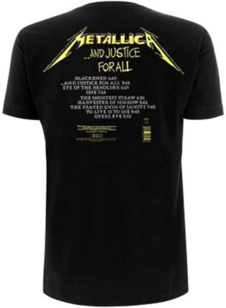 Metallica and Justice For All Tracks T-Shirt (Small): Amazon.es: Ropa y accesorios