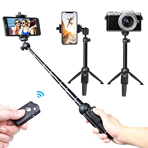 Selfie Stick,Venfoto Extendable Selfie Stick Tripod - Wireless Remote Bluetooth Phone Holder for IOS System and Android 4.3 System Above SmartPhone Selfie Stick for iPhone/Samsung/GoPro by Venfoto