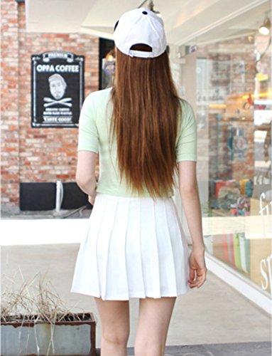 Femme Tennis Et Taille Jupe Smile Plisse Sport Casual Haute Courte Soire YKK Noir wTq8wntO