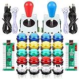 Fosiya LED Arcade Joystick Buttons Kit Ellipse Oval
