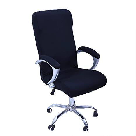 Vosarea Office Computer Chair Covers Rotating Armchair Slipcover Removable Stretch Computer Office Chair Cover Protector Size M (Black)