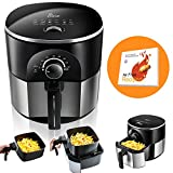 JESE Air Fryer, Multifunctional 3.5 Qt Air Fryer with Cook book, Auto Shut-off, Accurate Timer and Temperature Control