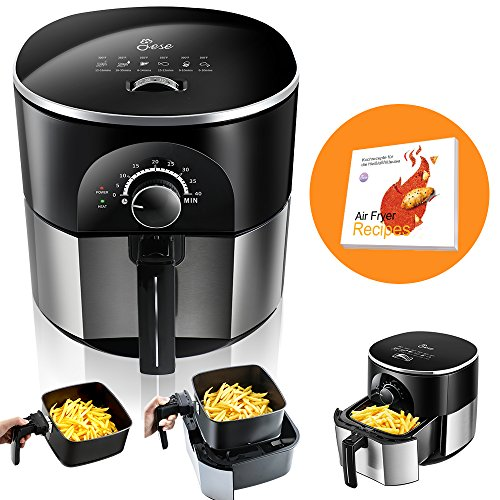 JESE Air Fryer, Multifunctional 3.5 Qt Air Fryer with Cook book, Auto Shut-off, Accurate Timer and Temperature Control Review