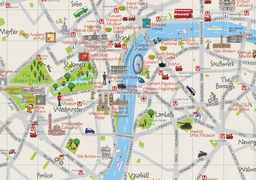 Collins Childrens London Map Amazoncouk Collins Maps