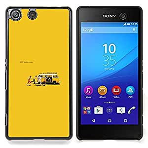 "Qstar Arte & diseño plástico duro Fundas Cover Cubre Hard Case Cover para Sony Xperia M5 E5603 E5606 E5653 (Miss Sunshine"")"