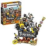 LEGO-Overwatch-Junkrat-e-Roadhog-Costruisci-una-Parte-di-Junkertown-Set-di-Costruzioni-75977