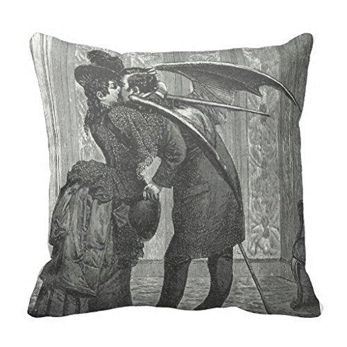 Vampire Kiss Victorian Gothic Decorative Pillow Case