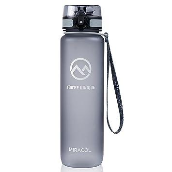 Miracol deportes botella de agua, 32oz - Tritan respetuoso Co-poliester plástico - con