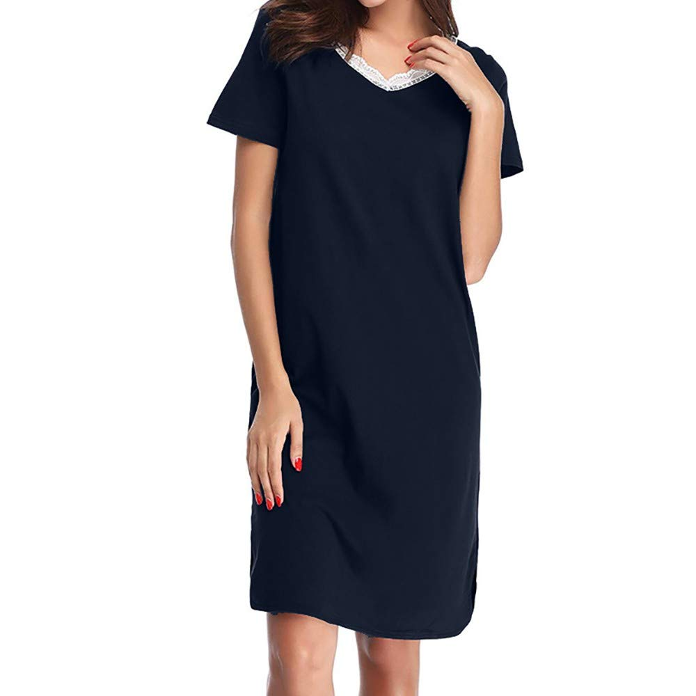 Frauen Kleid Damen Clubwear Loungewear Kleid Mode Elastisch Nachtwäsche