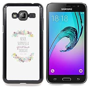 Stuss Case / Funda Carcasa protectora - Cita Primavera motivación feliz - Samsung Galaxy J3 GSM-J300