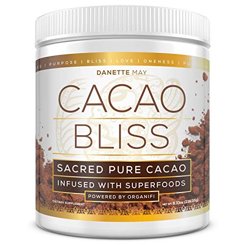 Organic Superfood Supplement - Organifi - Cacao Bliss Superfood Supplement - 30 Day Supply - First and Only Raw Cacao Superfood, Boosts Metabolism, and Satisfies Chocolate Cravings
