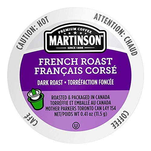 Martinson Single Serve Coffee Capsules, French Roast, 24 Count (Pack of 4)