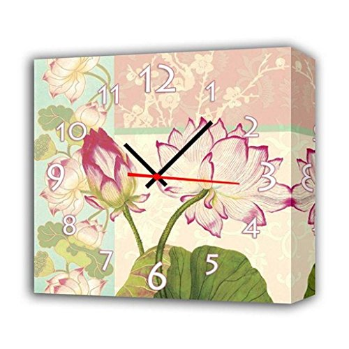 Royal-Modern Style canvas painting living room Fragrant lotus Wall Clock in Canvas 1pcs
