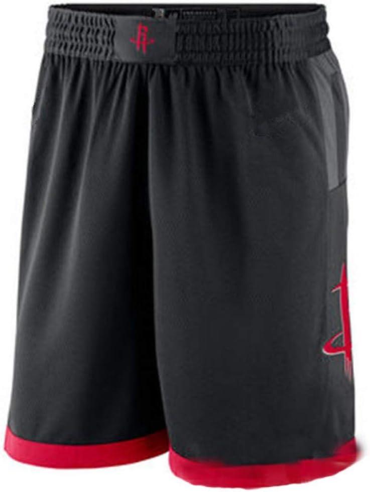 Taille: S-XXL XH Wei Shao Rockets Maillots Dentra/înement De Basket-Ball Russell Westbrook # 0 Maillot Et Short De Broderie en Tissu Respirant Noir Et Noir