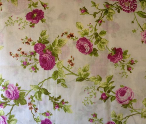 (Floral Rose Magenta Poly Cotton 60 Inch Fabric By the Yard (F.E.))