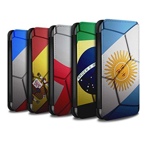 Stuff4 Coque/Etui/Housse Cuir PU Case/Cover pour Apple iPhone 7 / Pack 8pcs Design / Nations de Football Collection
