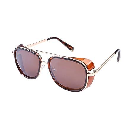 Ocamo Fashion Square Frame Windshield Sunglasses Outdoor Retro ...
