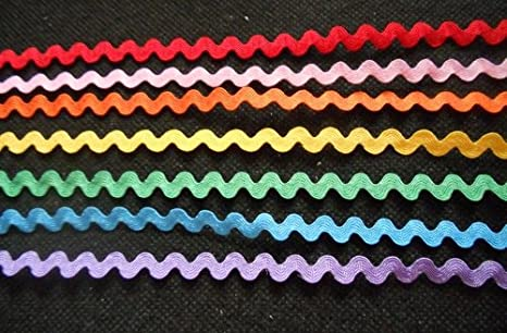 2 Yards Each Color Pinks Ric Rac Trims 5 Pack