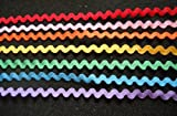 7 Yards - 7 Rainbow Color Ric Rac Trim - Size 8 Mm