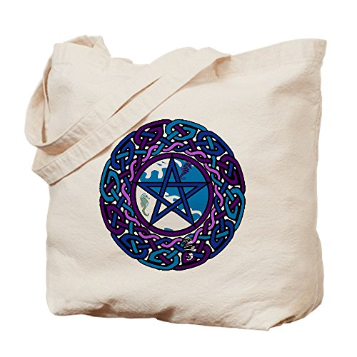 CafePress Water Pentacle With Celtic Kn Natural Canvas Tote Bag, Cloth Shopping Bag]()