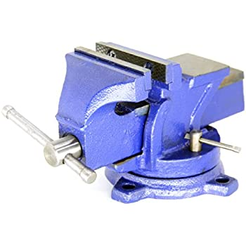 Heavy Duty Bench Vise , Forged - 360 Swivel Base with Lock, Anvil Top (6 Inch)