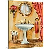 "Silvia Vassileva Premium Thick-Wrap Canvas Wall Art Print entitled Tuscan Bath IV 24""x30"""