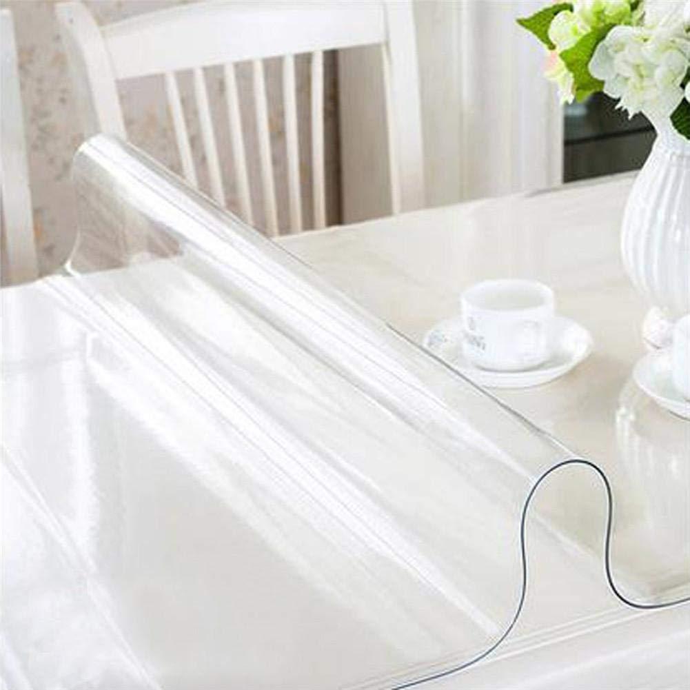 1,5 mm Impermeable Mantel de PVC Transparente Redondo Resistente a los ara/ñazos Cubierta de Protector de Mesa Transparente a Prueba de Aceite gaeruite Cubierta de Mesa Transparente